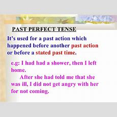 Past Perfect 8