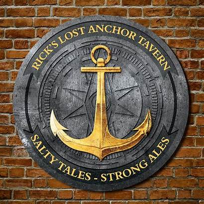 Round Signs Sign Wood Tavern Personalized Anchors