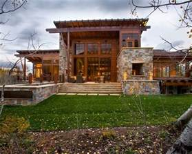Rustic Exterior Home Designs with Stone