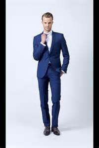 costume mariage homme hugo costume bleu roi un bouton mode homme look mariage déguisements