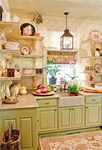 33 shabby chic kitchen ideas the shabby chic guru With kitchen colors with white cabinets with french shabby chic wall art
