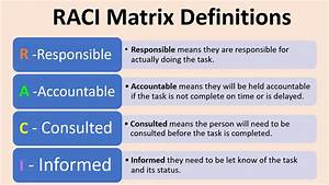 Raci Matrix Template Excel