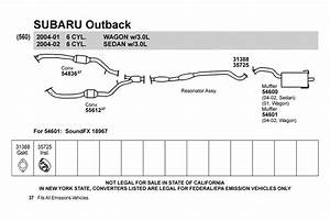 2002 Subaru Outback Exhaust System Diagram