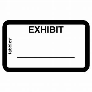 Tabbies legal exhibit labels white 252 pack for Exhibit label template