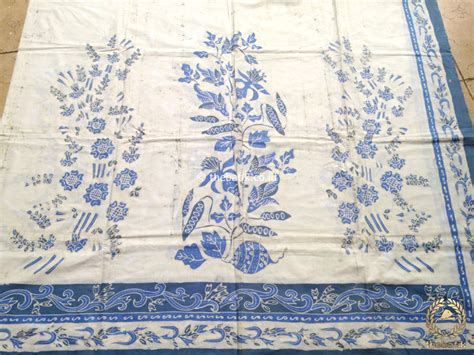 kain batik tulis warna alam boketan biru indigo putih thebatik co id