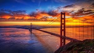 Bridge, During, Sunset, 4k, Hd, Nature, Wallpapers