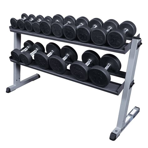 body solid gdr  tier dumbbell rack fitness factory outlet