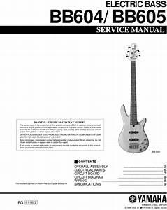 Yamaha Bb604 Bb-604 Bb605 Bb-605 Service Manual