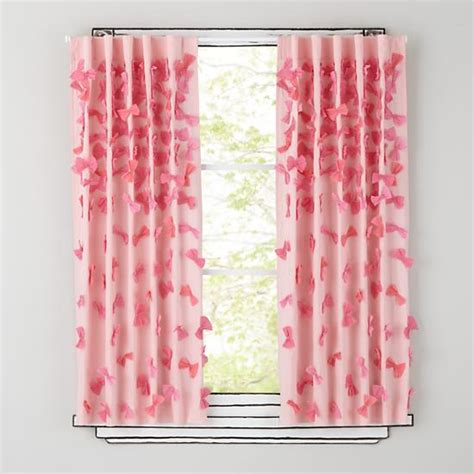 Pink Bows Curtain Panels  The Land Of Nod