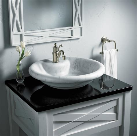 Top Mounted Bathroom Sinks by Black Bathroom Countertops For Marble Vessel Sinks