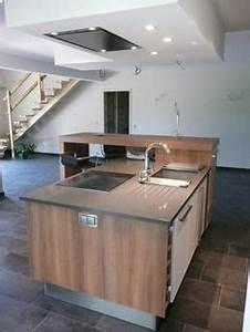 Hotte Pour Ilot Central : 1000 images about hotte au plafond on pinterest cuisine ~ Melissatoandfro.com Idées de Décoration