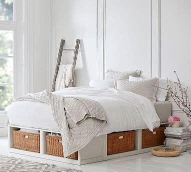 stratton storage platform bed  baskets wooden beds