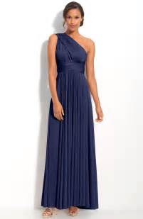 navy cocktail dress wedding one shoulder navy blue bridesmaid dresses to inspire you cherry
