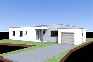 Maison Sans Toit : plan maison moderne toit plat plan maison toit plat ~ Farleysfitness.com Idées de Décoration
