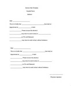 Sample Doctors Note Template