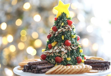 balled christmas tree a festive tree cheese appetizer recipe