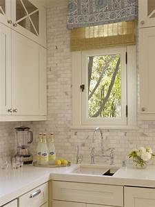 carrara marble backsplash transitional kitchen With kitchen colors with white cabinets with mosaic eight plates wall art