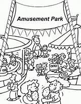 Coloring Amusement Fair Carnival County Printable Pdf Vacation sketch template