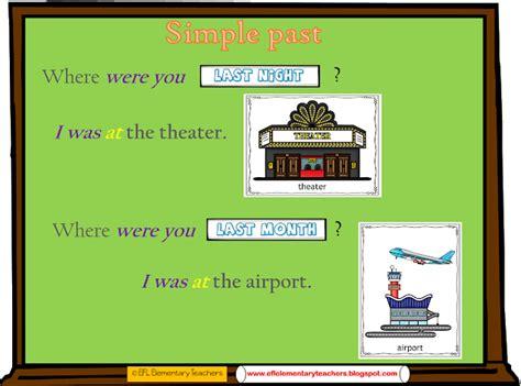 simple  tense  town  prepositions  esl