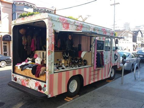 mobile boutique   chic flowery exterior complete