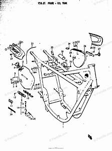 Suzuki Motorcycle 1974 Oem Parts Diagram For Frame