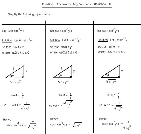 Basic Trig Functions Worksheet Worksheets For All  Download And Share Worksheets  Free On