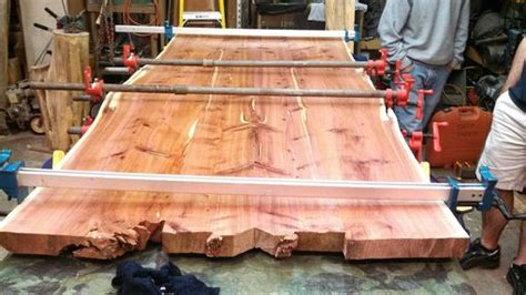 Hand Made Live Edge Cedar Dining Table And Benches by