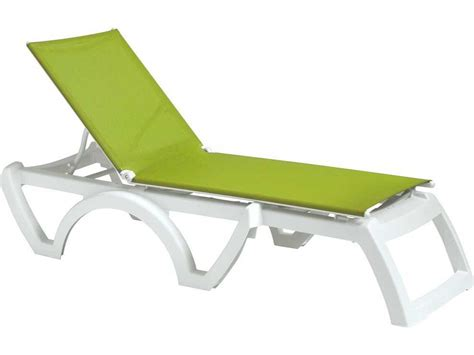 chaise grosfillex grosfillex calypso resin sling white chaise us746152