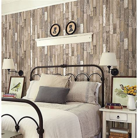 fd thin plank brown barn board  brewster home fashions