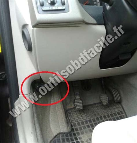 obd connector location  volvo