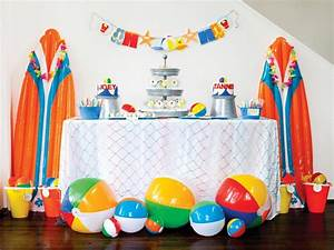 Décoration D Été : deco de fete decoration anniversaire enfant t plage guirlande ballons gonflables plage ~ Melissatoandfro.com Idées de Décoration