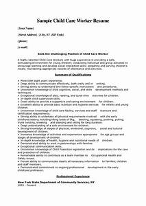 Child Care Worker Cover Letter Sample
