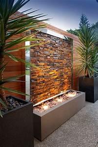 Fontaine D Exterieur En Pierre : mur d 39 eau exterieur design en pierre odzo ~ Premium-room.com Idées de Décoration