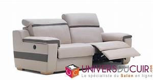 photos canape 2 places relaxation electrique cuir With canapé 2 places relax cuir