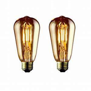 Vintage Light Bulbs Home Depot Archipelago 40w Equivalent Warm White St19 Amber Lens