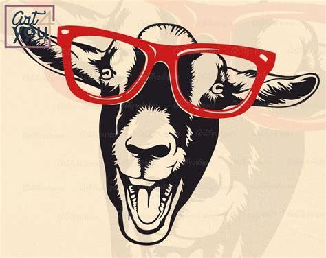 Fun on the farm grade/level: Crazy goat lady svg goat glasses svg cricut funny farm ...