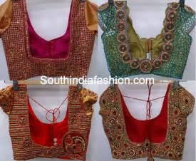 saree blouse designs heavy work wedding saree blouse designs south india fashion
