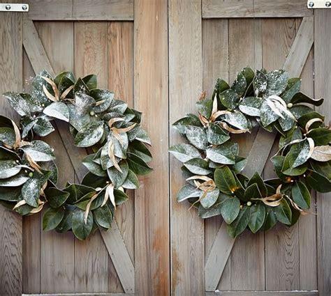 pottery barn wreath lit magnolia wreath pottery barn