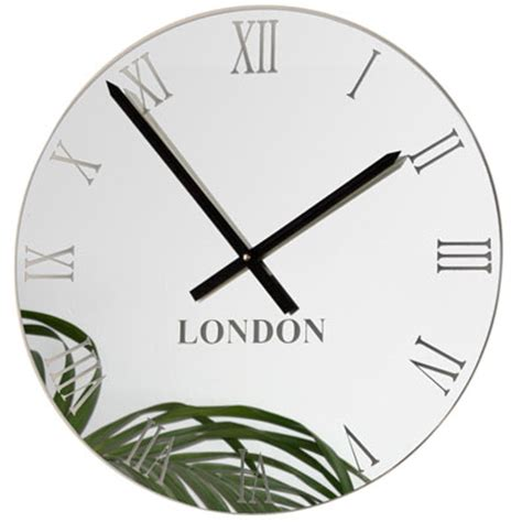 World Clock Rome by Uk Roco Verre Mirror Timezone Clock