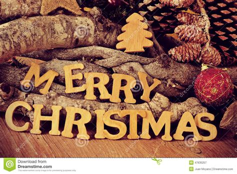 Wooden Fireplace Screen by Wooden Letters Forming The Sentence Merry Christmas Stock