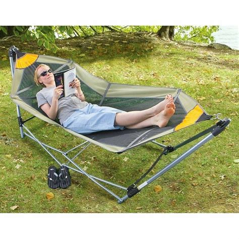 new guide gear portable folding hammock bed cing chair