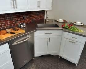 Corner Kitchen Sink Cabinet Ideas by 10 Vibrant Corner Sink Kitchen Designs Picture Ideas