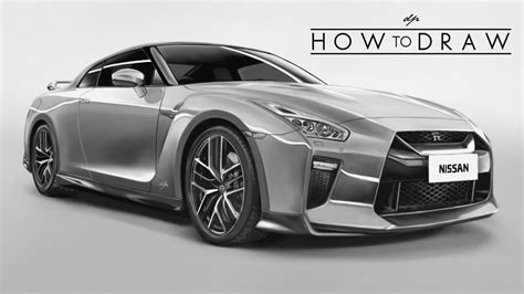 nissan skyline drawing step by step how to draw a 2017 nissan r35 gtr step by step
