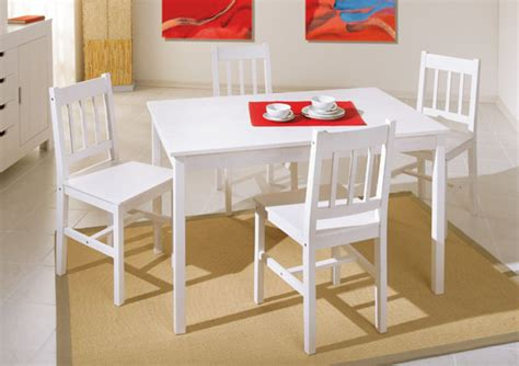 tables cuisine ensemble table 4 chaises blanc