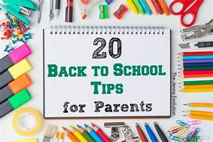 20 Back to School Tips for Parents | The Jenny Evolution