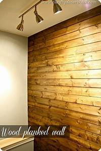 really great link to an easy and cheap 50 dollars diy With cheap wood planks for walls