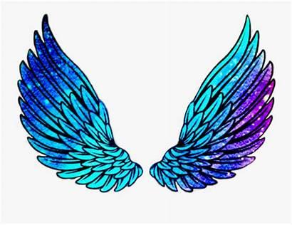 Asas Clipart Wings Neon Angel Picsart Transparent