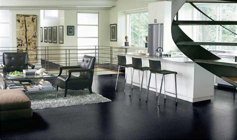 black tiles design black wood flooring feel the home