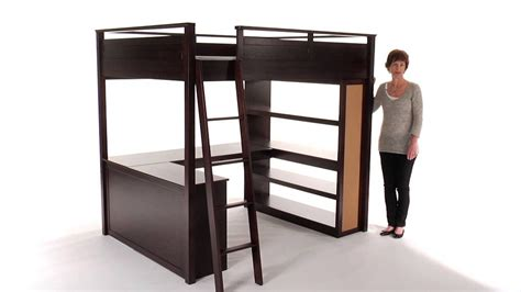 bunk bed with futon and desk loft bed with desk for teenagers home bunk beds bunk beds