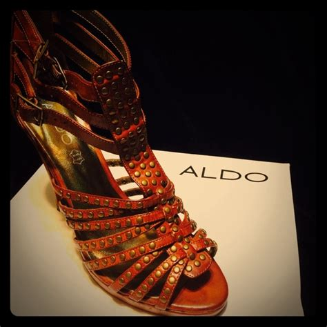 cognac colored heels aldo shoes cognac colored gladiator heels poshmark